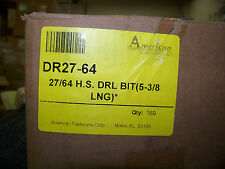 American Fasteners, Irwin, and Other Brands 27/64 Drill Bits 5 3/8
