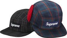 SUPREME Fleece Lined Ear Flap Camp Cap Black S/M Box Logo hoodie safari F/W 14