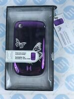 Aegis Uunique Metallic purple with butterfly design Case for BlackBerry 8520/...