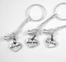 3 Sisters key chain set Huge sale little Sis Middle Sis Big Sis key chains all 3
