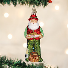 *Fly Fishing Santa* Fish Lake [40209] Old World Christmas Glass Ornament - NEW