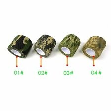 New 5CMx4.5M Camo Waterproof Wrap Hunting Camping Hiking Camouflage Stealth Tape