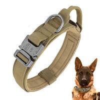 Taktisches Hundehalsband mit Griff K9 Militär Nylon Halsband Gepolstert Hunde