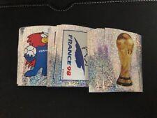 Panini WM 98 France 1998 WORLD CUP Stickers BADGES ORIGINAL SET RARE  247-561