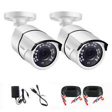 ZOSI CCTV  2Pcs 1080P 4iN1 Bullet CCTV Camera Outdoor Security IR Night Vision