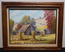 Nancy Fischvogt Brown County Landscape Oil on Canvas Indiana Barn Hoosier School
