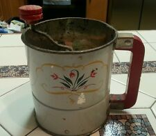 antique flour sifter ANDROCK TRIPLE SIFTER  MADE IN USA