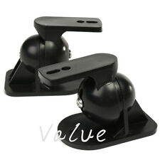 2x Universal Adjustable Surround Sound Wall Speaker Mount Bracket Black