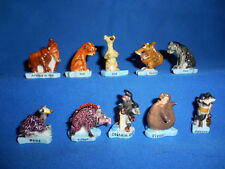 ICE AGE CONTINENTAL DRIFT Set 10 Mini Figures FRENCH PORCELAIN FEVES Figurines