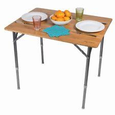 Kampa pliable bambou hauteur réglable Table camping-Medium 80 x 20 cm