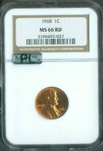 1968 LINCOLN CENT NGC  MS66 RED PENNY MAC PROOF-LIKE (PL) QUALITY✔️