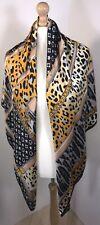Designer Inspired Silk Scarf Pashmina Black Soft Feel Silky Oversized Long NEW