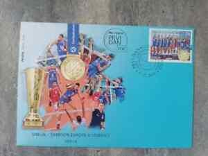 SERBIA European champion in volleyball MEN FDC