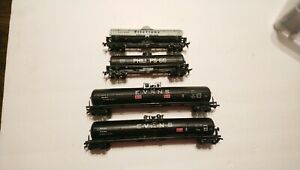 Athearn HO Train Lot of 4 Rolling Stock Tanker Cars 2 Evans 62' & Two 42' RTR