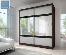 BRAND NEW SLIDING DOOR WARDROBE 6ft (183cm) CAMBRIDGE OAK SIDES & BIG MIRROR F02