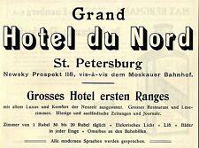 Grand Hotel du Nord St. Petersburg Newsky Prospekt Historische Reklame von 1908