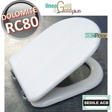 NUOVO SEDILE WC RC80 CERAMICA DOLOMITE ACB ERCOS Linea GOLD BAGNO COPERCHIO WC