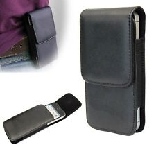 Hot Black Flip Vertical Leather Case Cover Belt Clip Holster For iPhone 5 5S