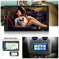 """7"""" 800*480 HD 2Din Car Stereo Radio Bluetooth MP5 Player FM AUX+Rearview Camera"""