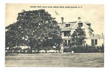 Great Neck LI NY - The Sound View Golf Club ca.1930s Long Island Postcard