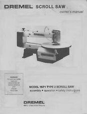 Dremel Model 1671 16 Scroll Saw Operators Amp Parts Manual Cd