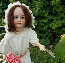 "Large 32""Antique Armand Marseille 390 Bisque Head Doll&Edwardian Lawn Dress A15M"