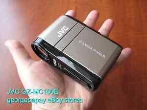 RARE NEW condition JVC GZ-MC100E professional miniature HD media camcorder