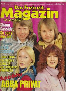 Freizeit-Magazin Nr.38 vom 18.9.1978 Brian Connolly, Abba, Van Halen, Meat Loaf