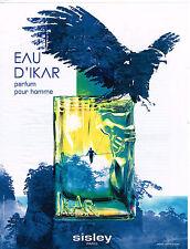 PUBLICITE ADVERTISING 035  2011  SISLEY  parfum homme EAU D'IKAR