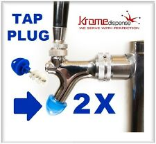 BEER FAUCET BRUSH KLEEN PLUG 2X BLUE HYGIENE TAP CAP TO KEEP CLEAN BUG FREE TAPS