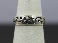 Native Style Sterling Silver Symbols Band Ring