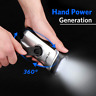 Wind-Up Torch Solar Rechargeable LED Flashlight Lamp Outdoor Emergency Lights