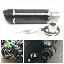 1X 51mm Motorcycle Real Carbon Fiber Slip-On Exhaust Muffler Pipe With DB Killer