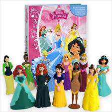 DISNEY PRINCESSES 2015 BUSY BOOK - STORY 11 FIGURES AND A BRACELET FREE P+P