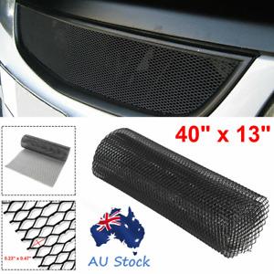Black Aluminum Mesh Grill Cover Car Bumper Hood Vent Grille Net 12mmx6mm Rhombus