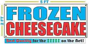 FROZEN CHEESECAKE Banner Sign NEW Larger Size Best Quality for The $$$ Fair Food