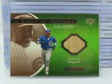 2001 Upper Deck Ovation Sammy Sosa A Piece Of History Game Used Bat Relic T97
