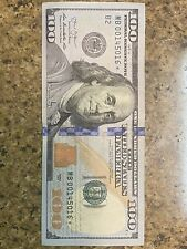 2013 $100 one hundred dollar bill star note with fancy serial number
