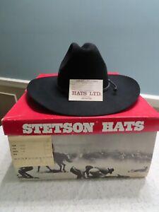 AWESOME! LN, Stetson Tyler Black 4X Beaver Hat  Men's Size 7 1/2 Cowboy Hat