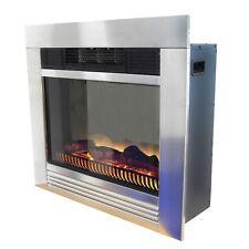 Elektrischer Kamin Elektrokamin Edelstahl Ofen mit LED Feuereffekt 1800W
