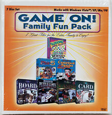 Game On! PC CD-ROM pack Hoyle Casino, Card, Puzzle, Board Games Sudoku Crossword
