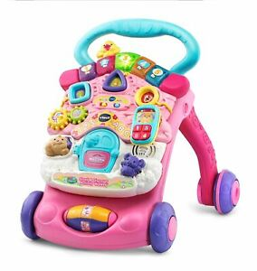 VTech, Stroll and Discover Activity Walker, Walker for Babies, Baby Toy, Pink