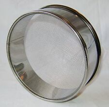 """NEW STAINLESS STEEL ROUND FLOUR SIFTER PAN 16 cm 6.5"""" DIAMETER PRIMA"""