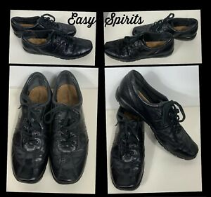 Easy Spirit Shoes Size 9.5 Black Leather Lace Up