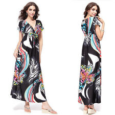 Polyester Short Sleeve Regular Size Maxi Dresses for Women