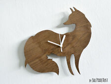 Fox Silhouette - Wooden Wall Clock