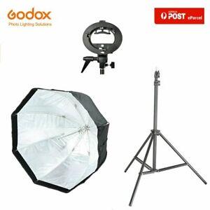 "AU GODOX 47"" 120cm Octagon Umbrella Softbox+2m Light Stand+S-type For Speedlite"