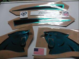 NFL F/S Chrome Carolina Panthers helmet decal set w/25 seasons...tacm002