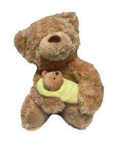 Mama Bear Holding Baby Bear Sings Rock A Bye Baby Plush Stuffed Animated Gund
