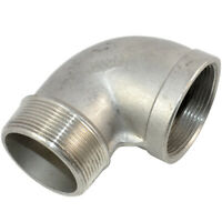 """1 piece 1-1/2"""" Female x 1-1/2"""" Male street Elbow Threaded Pipe Fitting SS304 NPT"""